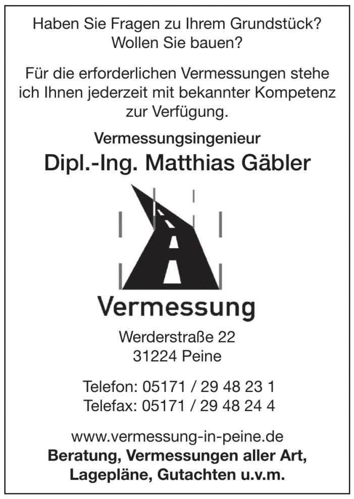 Vermessungsbüro - Dipl.-Ing. Matthias Gäbler
