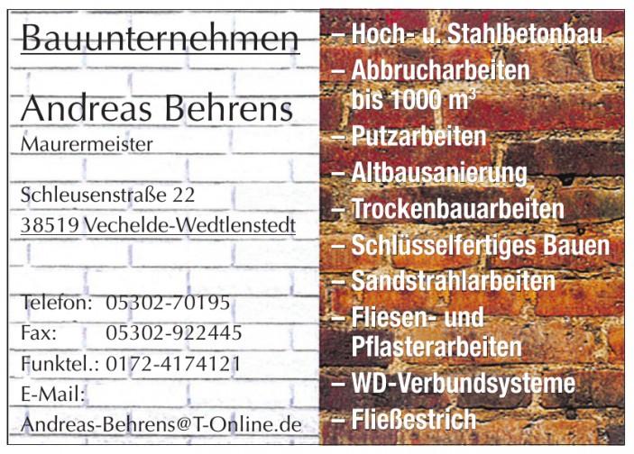 Bauunternehmen Andreas Behrens Mauermeister