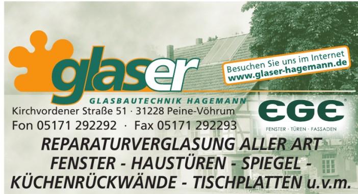 glaser Glasbautechnik Hagemann