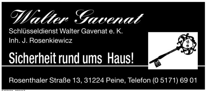 Schlüsseldienst Walter Gavenat e.K.