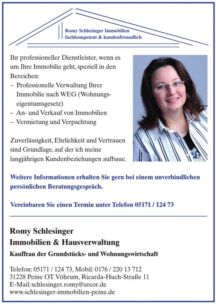 Romy Schlesinger, Immobilien & Hausverwaltung