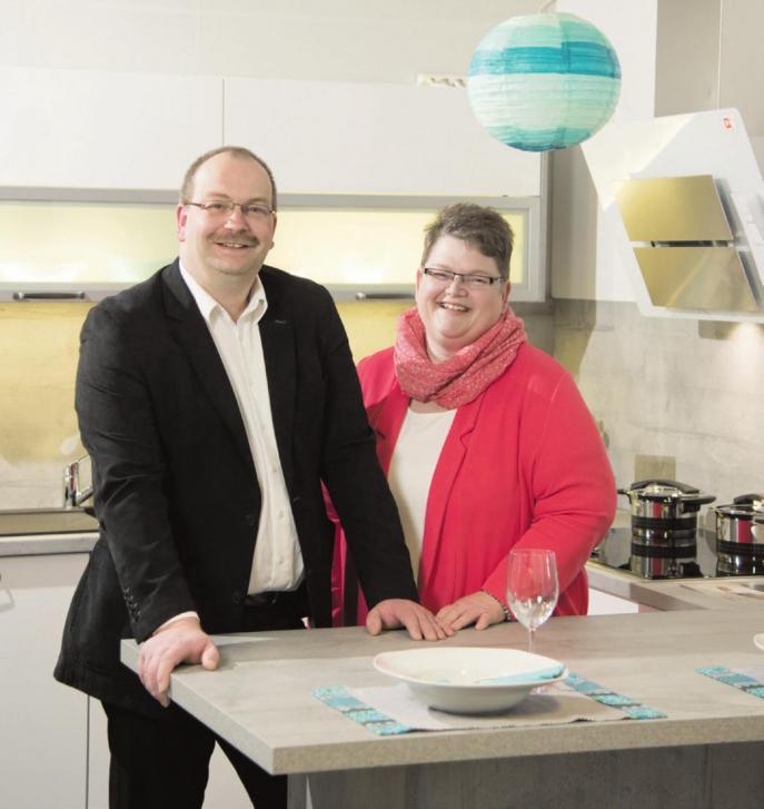 Andrea Stöber und Tischlermeister Dietmar Stöber führen seit 2008 erfolgreich und kreativ die 1976 gegründete Firma IMW. Foto: oh